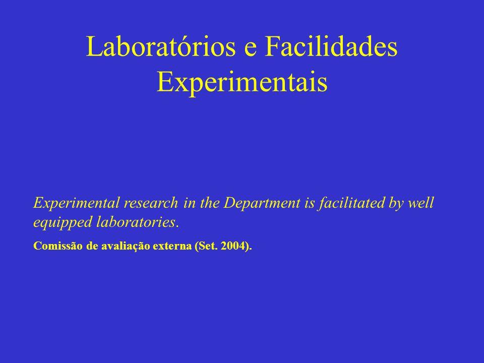 Laboratórios e Facilidades Experimentais Experimental research in the Department is facilitated by well equipped laboratories. Comissão de avaliação e