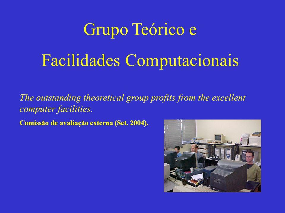 Grupo Teórico e Facilidades Computacionais The outstanding theoretical group profits from the excellent computer facilities. Comissão de avaliação ext