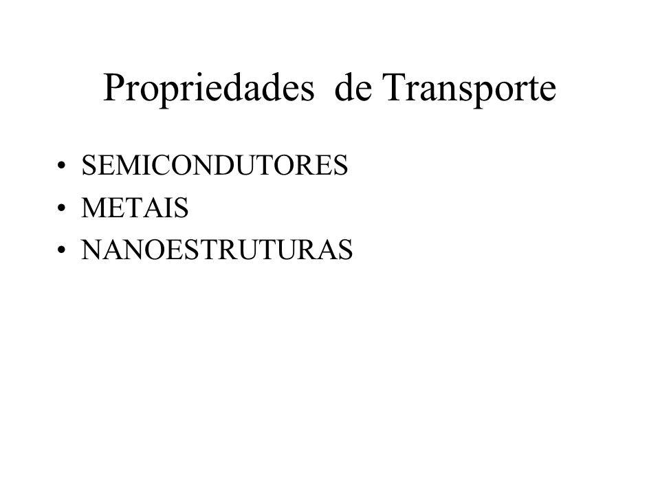 Propriedades de Transporte SEMICONDUTORES METAIS NANOESTRUTURAS