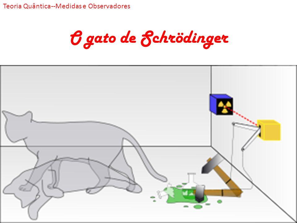 O gato de Schrödinger Teoria Quântica--Medidas e Observadores