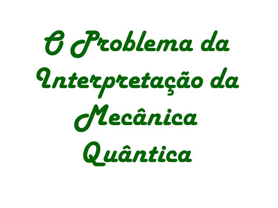 O Problema da Interpretação da Mecânica Quântica