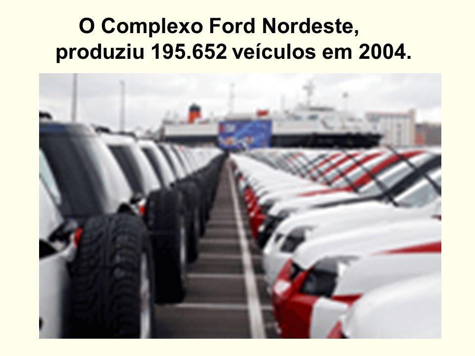 O Complexo Ford Nordeste, produziu 195.652 veículos em 2004.