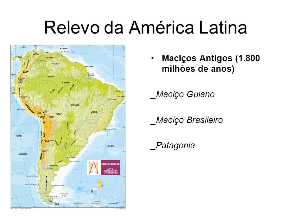 Características da População da América Latina Distribuição da população desigual, concentrada nas margens do continente.