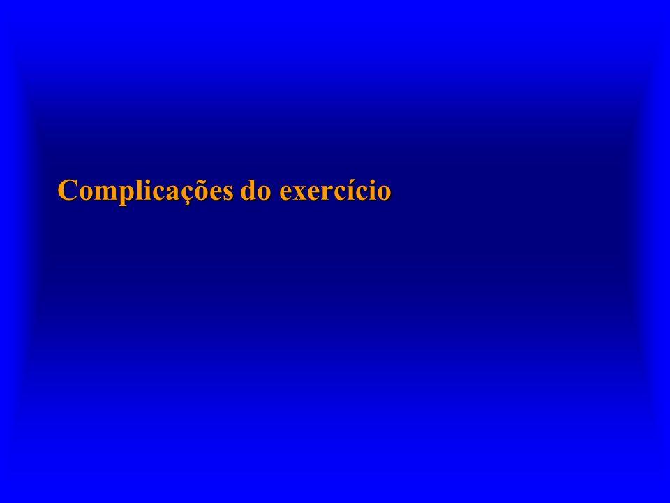 Complicações do exercício