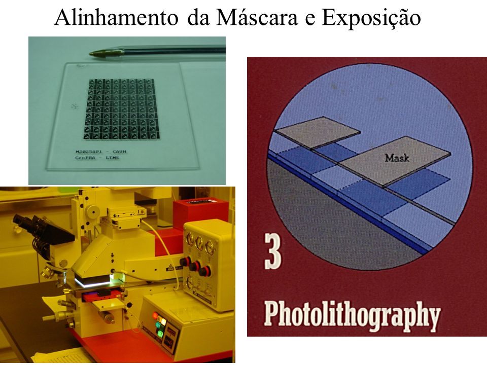 Fotolitografia e corrosão da camada de SiO 2 por plasma reativo