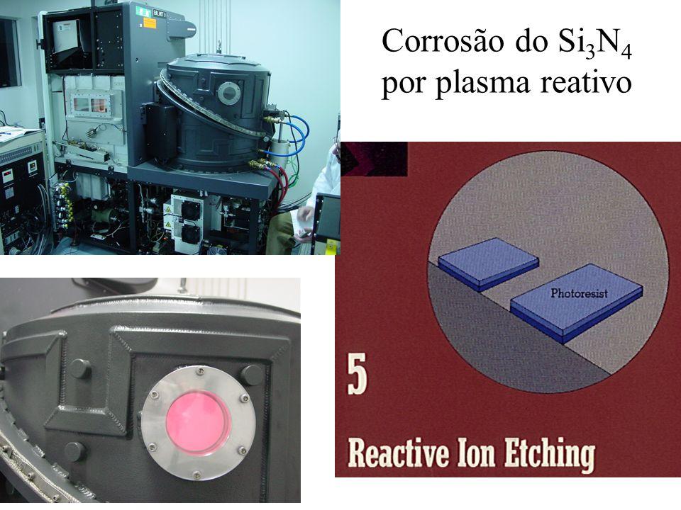 Remoção do fotorresiste por dissolução em acetona