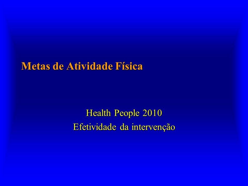 Metas de Atividade Física Health People 2010 Efetividade da intervenção