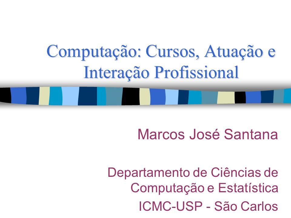 Computação: Cursos, Atuação e Interação Profissional Marcos José Santana Departamento de Ciências de Computação e Estatística ICMC-USP - São Carlos