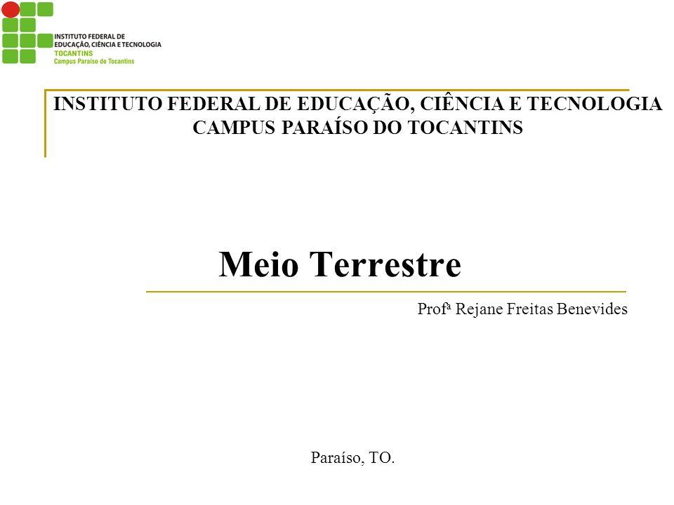 Meio Terrestre Prof a Rejane Freitas Benevides Paraíso, TO. INSTITUTO FEDERAL DE EDUCAÇÃO, CIÊNCIA E TECNOLOGIA CAMPUS PARAÍSO DO TOCANTINS