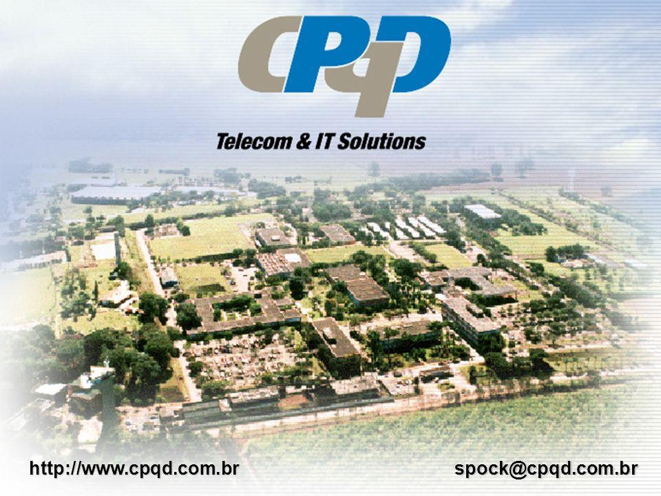 D i r e i t o s R e s e r v a d o s a o C P q D - 2 0 0 1 spock@cpqd.com.brhttp://www.cpqd.com.br