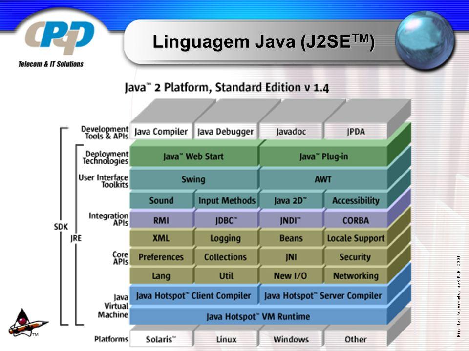 D i r e i t o s R e s e r v a d o s a o C P q D - 2 0 0 1 Linguagem Java (J2SE TM )