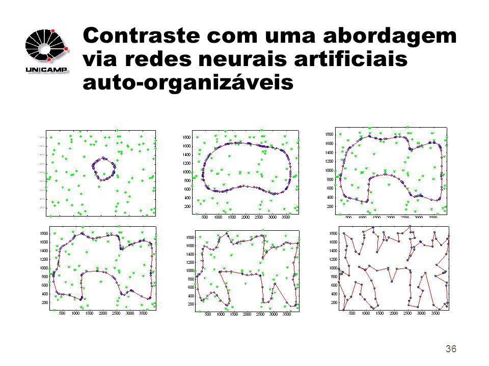 36 Contraste com uma abordagem via redes neurais artificiais auto-organizáveis