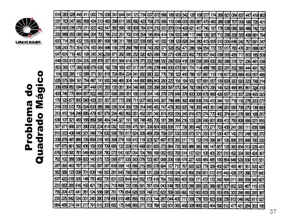 37 Problema do Quadrado Mágico