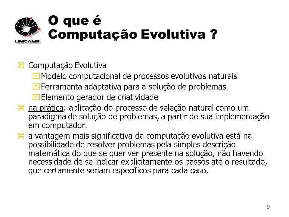 9 O que é Computação Evolutiva .