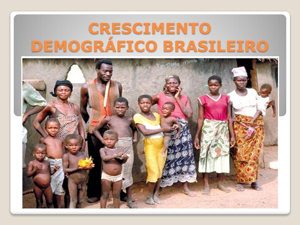 CRESCIMENTO DEMOGRÁFICO BRASILEIRO