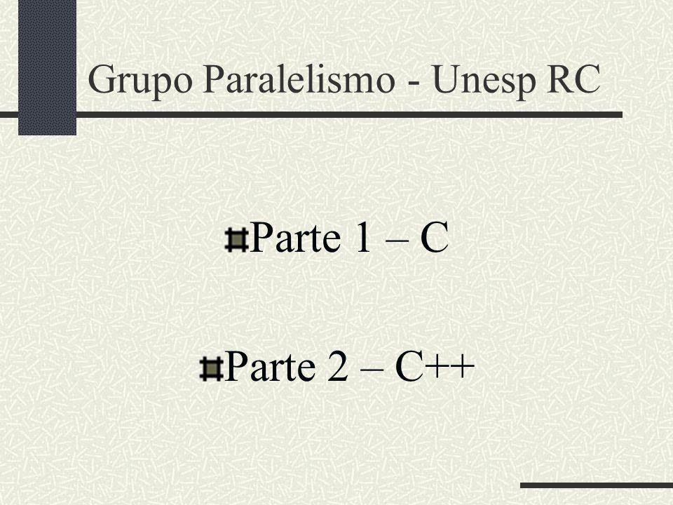 Grupo Paralelismo - Unesp RC Parte 1 – C Parte 2 – C++
