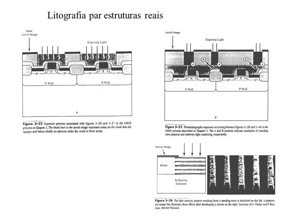 Litografia par estruturas reais