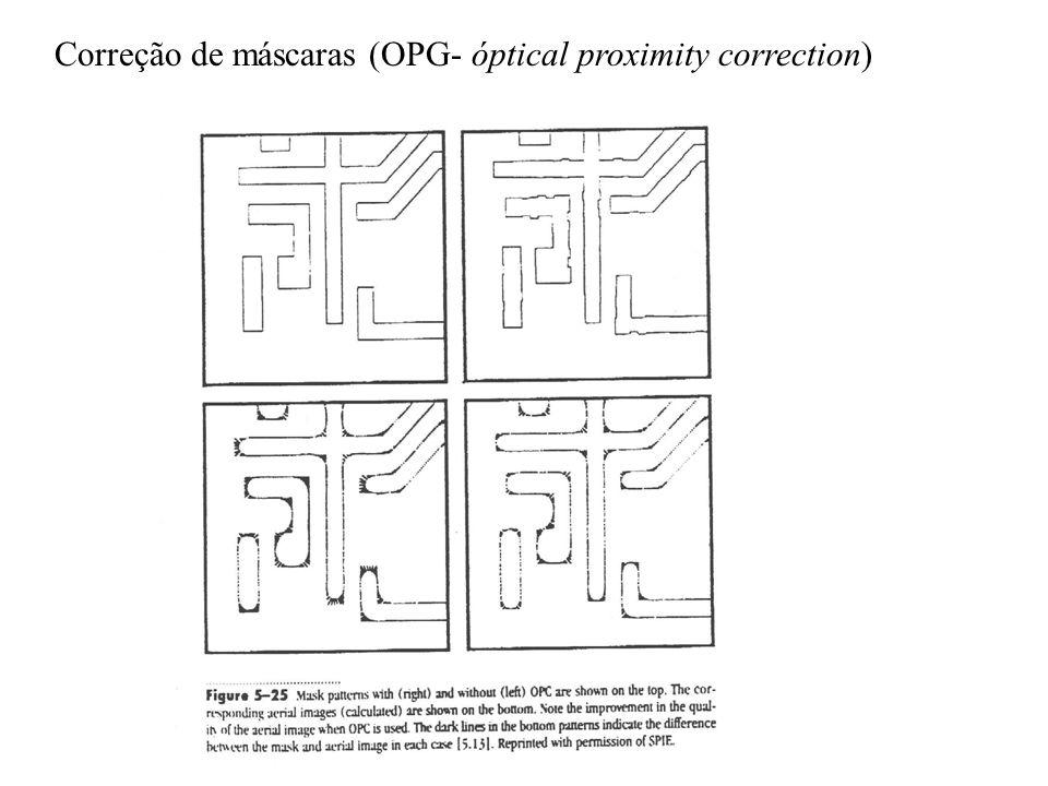 Correção de máscaras (OPG- óptical proximity correction)