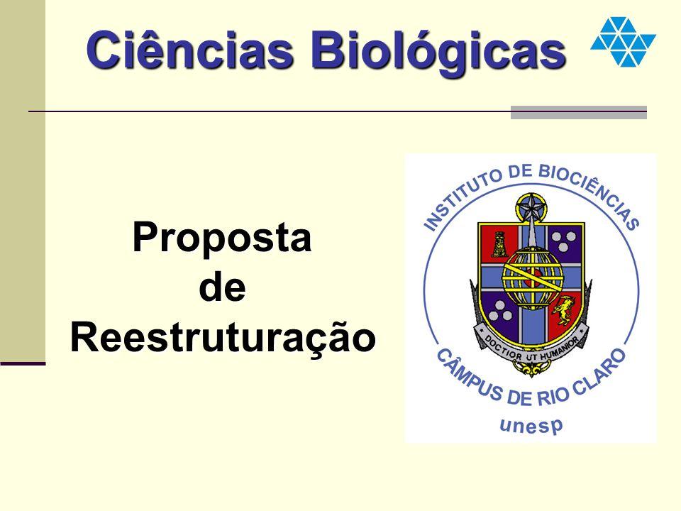 Ciências Biológicas Proposta de Reestruturação