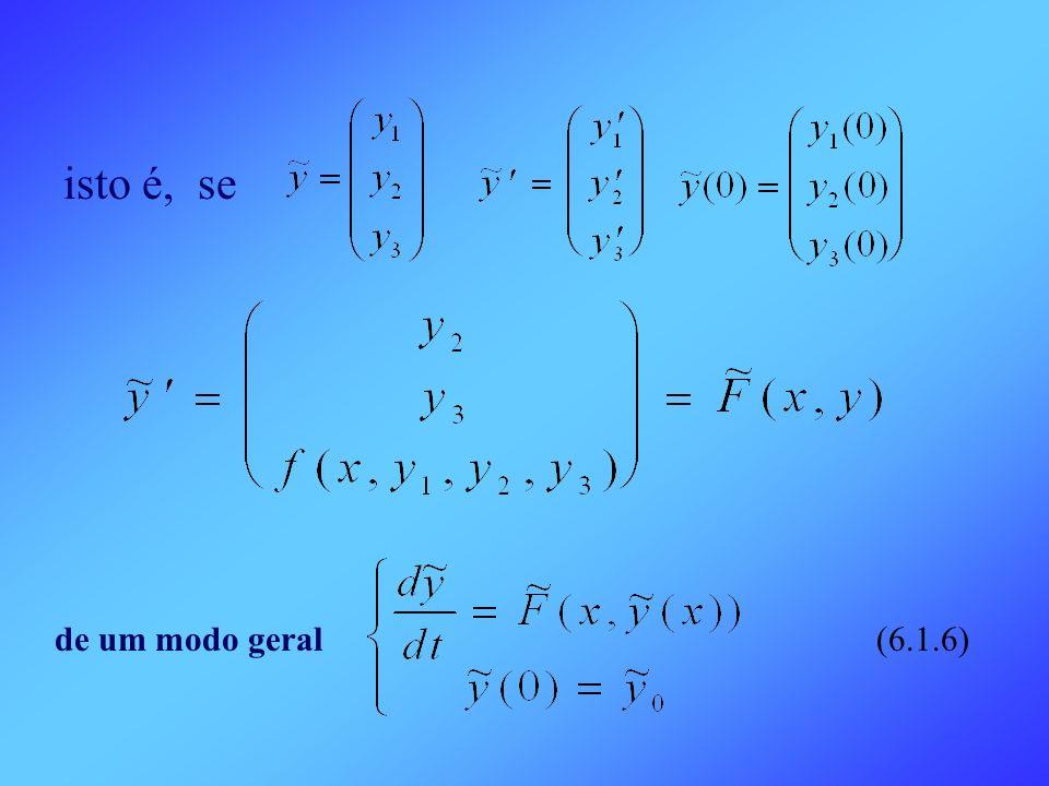 isto é, se de um modo geral (6.1.6)