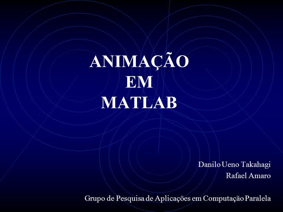 ANIMAÇÃO EM MATLAB Danilo Ueno Takahagi Rafael Amaro Grupo de Pesquisa de Aplicações em Computação Paralela