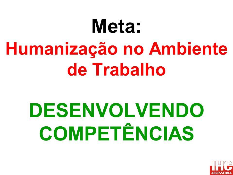 Meta: Humanização no Ambiente de Trabalho DESENVOLVENDO COMPETÊNCIAS