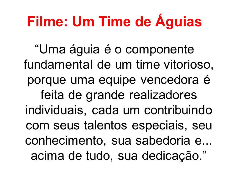 Filme: Um Time de Águias Uma águia é o componente fundamental de um time vitorioso, porque uma equipe vencedora é feita de grande realizadores individ