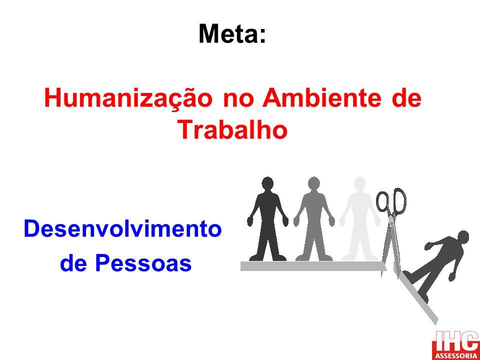 Meta: Humanização no Ambiente de Trabalho Desenvolvimento de Pessoas