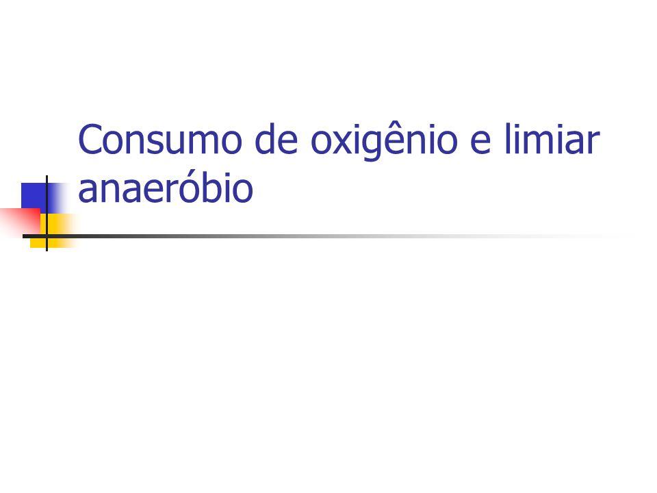 Consumo de oxigênio e limiar anaeróbio