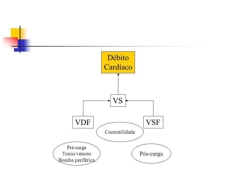 VS VDFVSF Pré-carga Tonus venoso Bomba periférica Pós-carga Contratilidade Débito Cardíaco