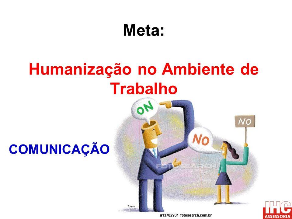 Meta: Humanização no Ambiente de Trabalho COMUNICAÇÃO