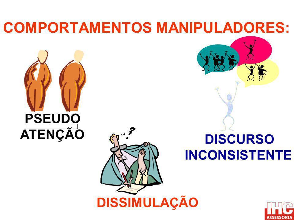 COMPORTAMENTOS MANIPULADORES: DISSIMULAÇÃO DISCURSO INCONSISTENTE PSEUDO ATENÇÃO