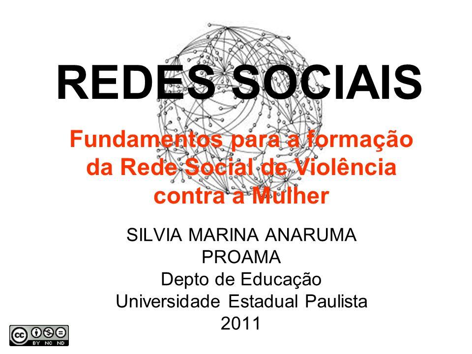 SILVIA MARINA ANARUMA PROAMA Depto de Educação Universidade Estadual Paulista 2011 REDES SOCIAIS Fundamentos para a formação da Rede Social de Violência contra a Mulher