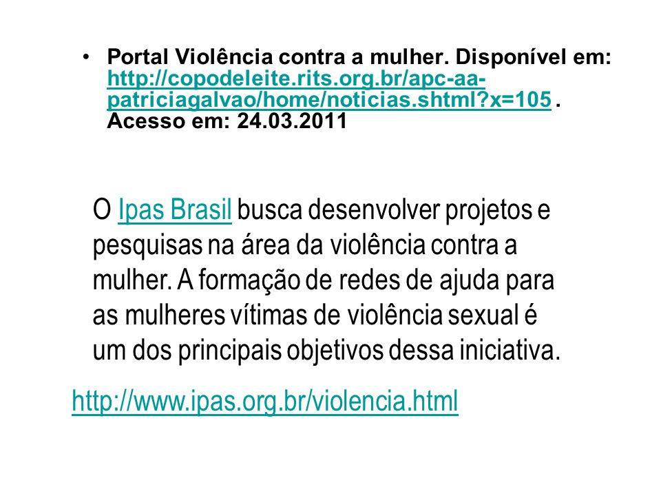 Portal Violência contra a mulher.