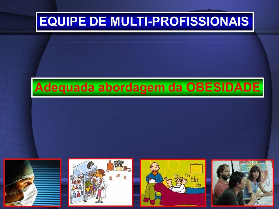 EQUIPE DE MULTI-PROFISSIONAIS Adequada abordagem da OBESIDADE