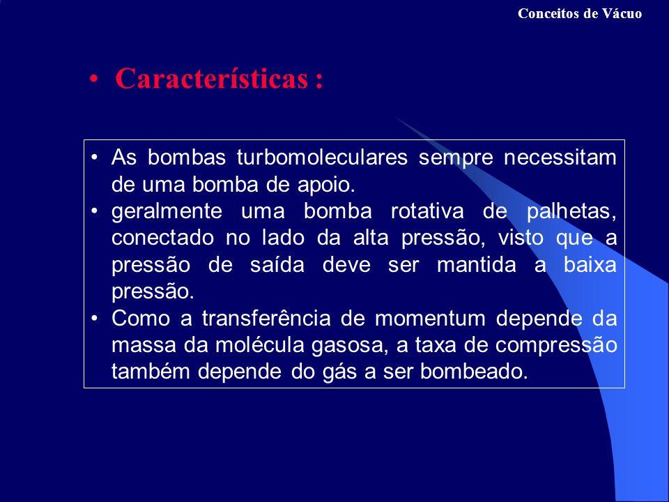 As bombas turbomoleculares sempre necessitam de uma bomba de apoio.
