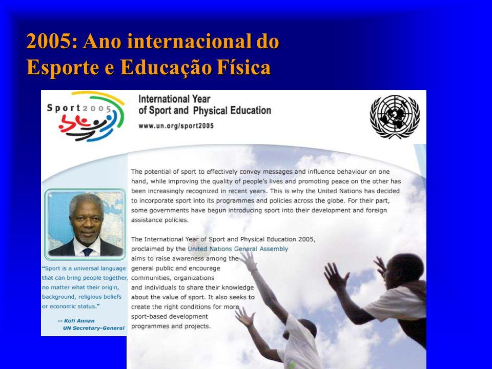 2005: Ano internacional do Esporte e Educação Física