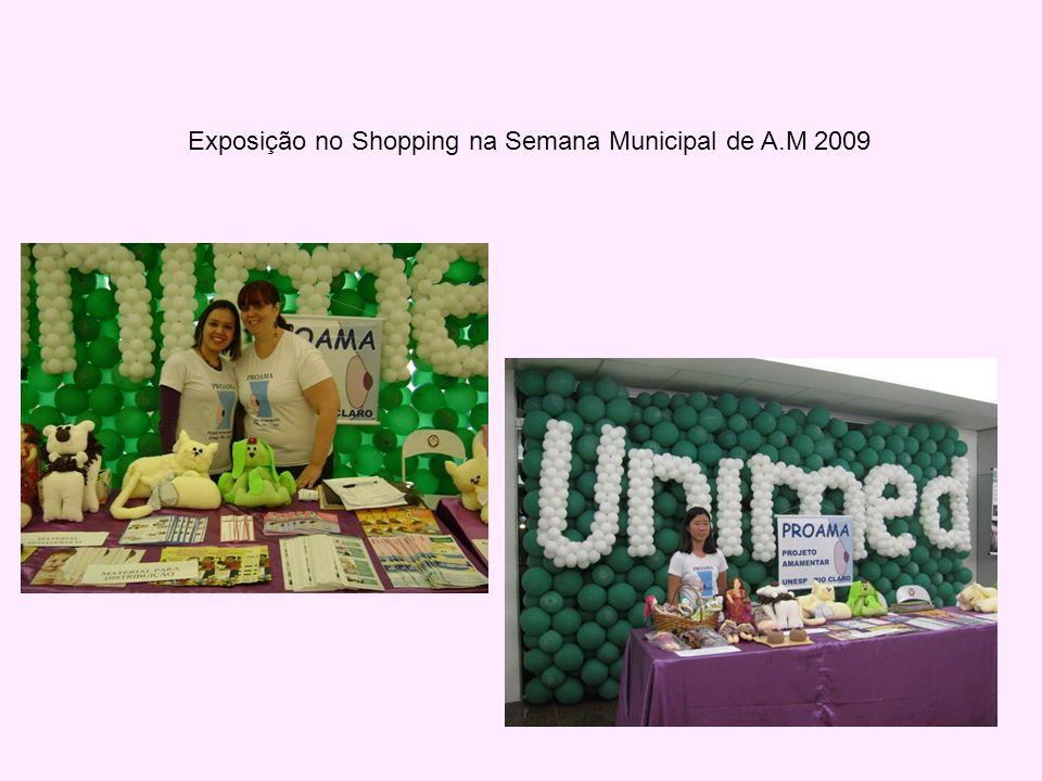Exposição no Shopping na Semana Municipal de A.M 2009