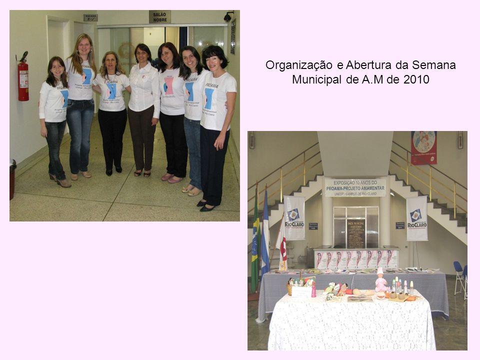 Organização e Abertura da Semana Municipal de A.M de 2010