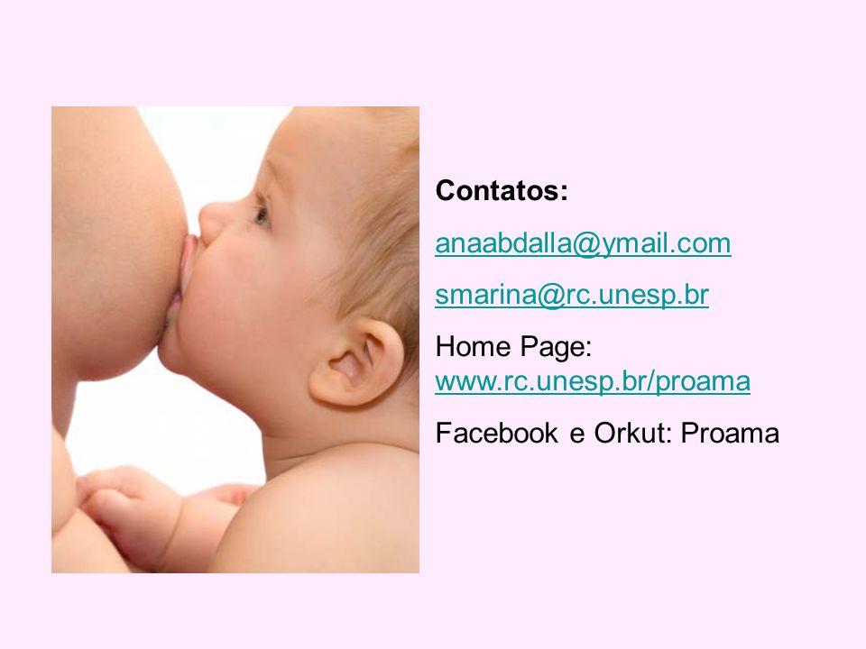 Contatos: anaabdalla@ymail.com smarina@rc.unesp.br Home Page: www.rc.unesp.br/proama www.rc.unesp.br/proama Facebook e Orkut: Proama