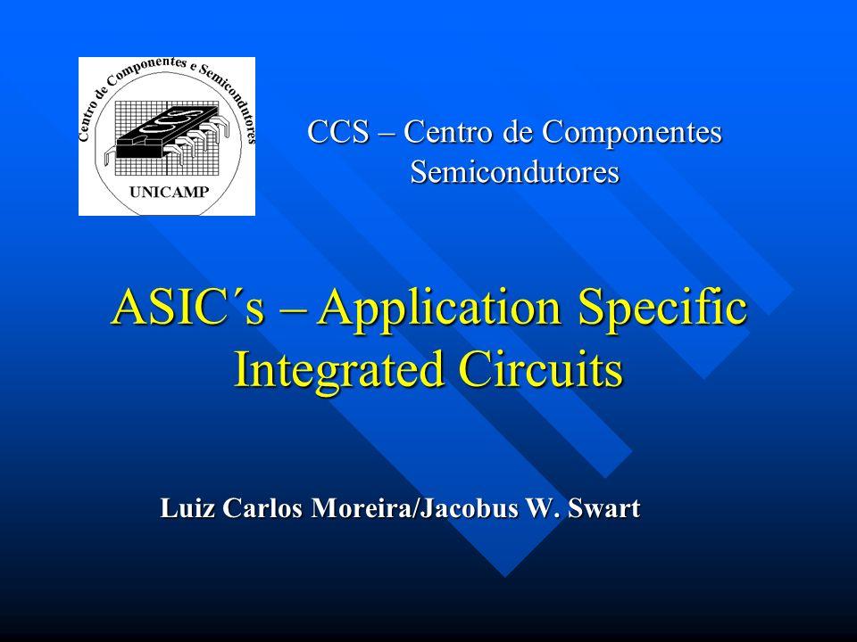 CCS – Centro de Componentes Semicondutores Luiz Carlos Moreira/Jacobus W. Swart ASIC´s – Application Specific Integrated Circuits