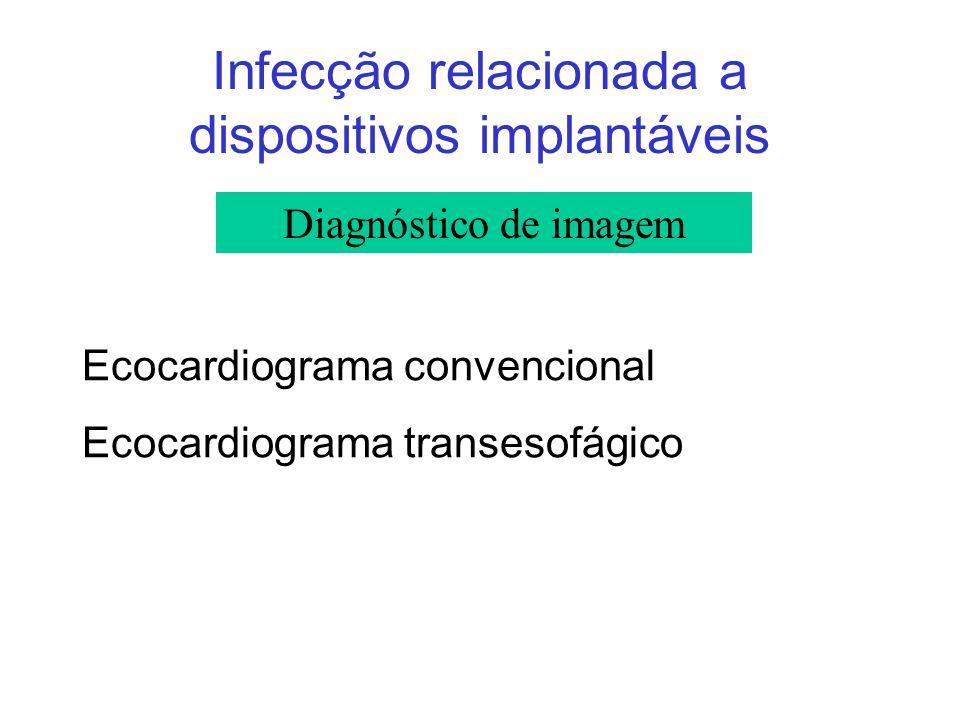 Infecção relacionada a dispositivos implantáveis Ecocardiograma convencional Ecocardiograma transesofágico Diagnóstico de imagem