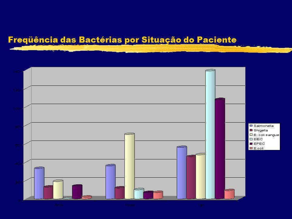 Freqüência das Bactérias por Situação do Paciente