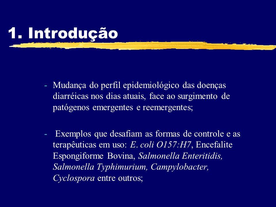 1. Introdução -Mudança do perfil epidemiológico das doenças diarréicas nos dias atuais, face ao surgimento de patógenos emergentes e reemergentes; - E