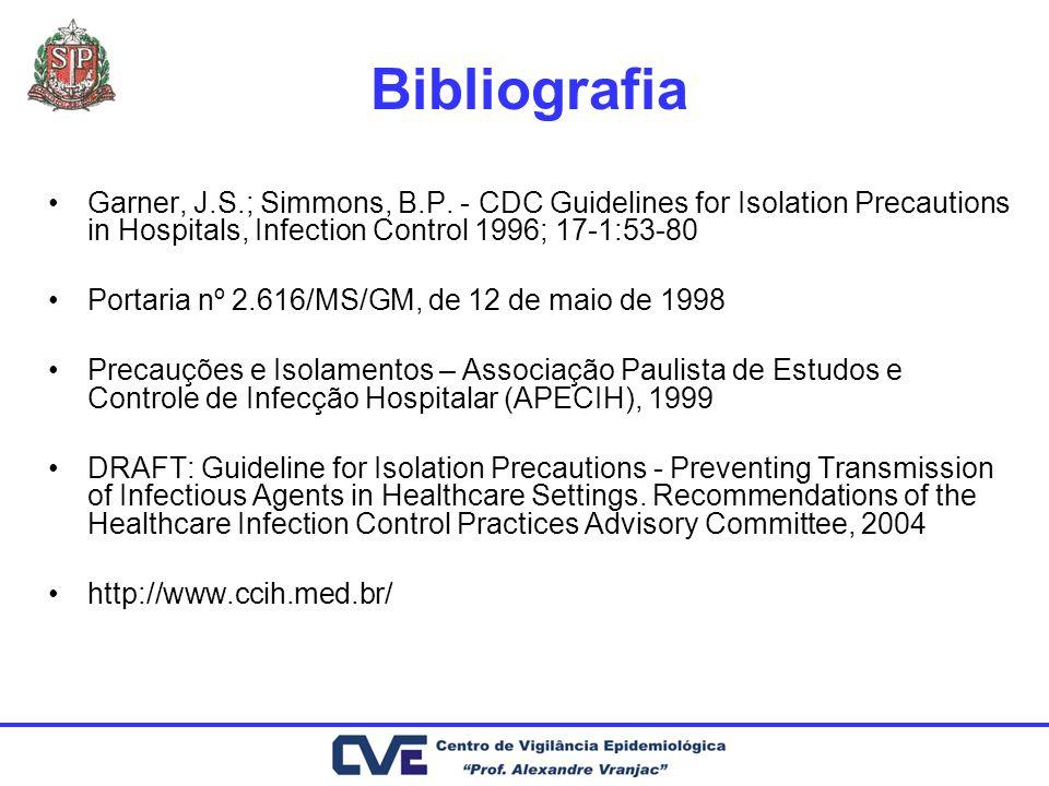 Bibliografia Garner, J.S.; Simmons, B.P.