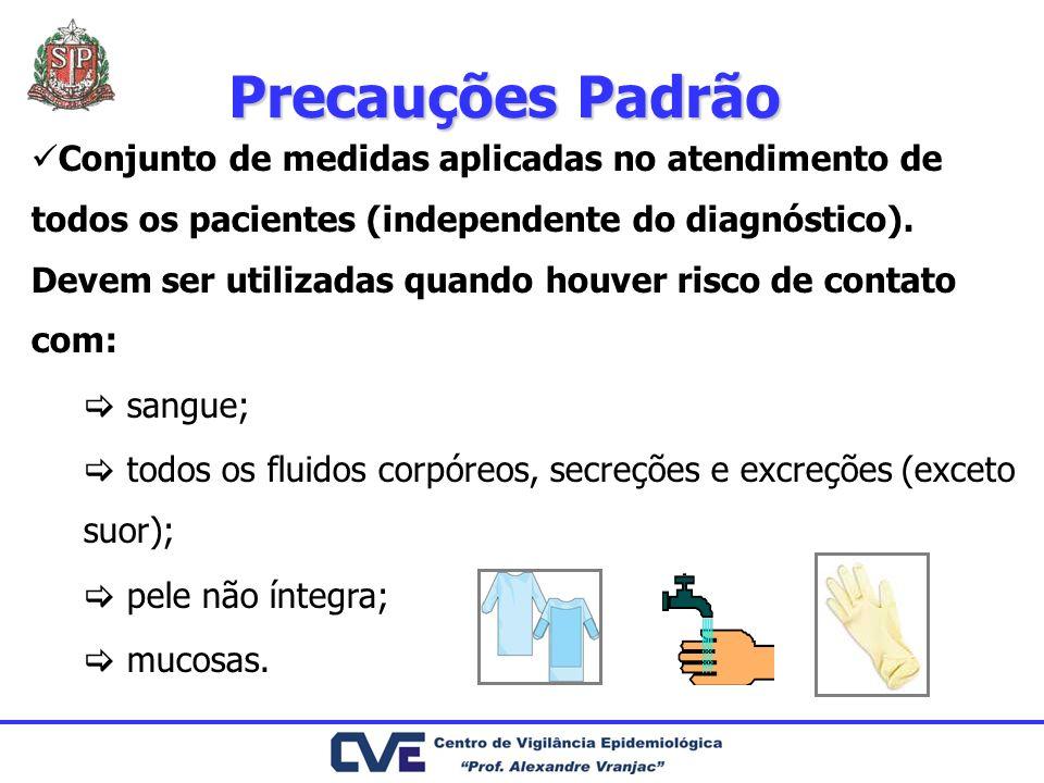 Conjunto de medidas aplicadas no atendimento de todos os pacientes (independente do diagnóstico). Devem ser utilizadas quando houver risco de contato