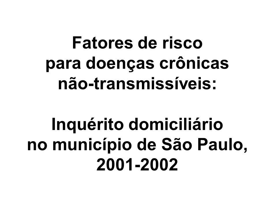 Fatores de risco para doenças crônicas não-transmissíveis: Inquérito domiciliário no município de São Paulo, 2001-2002
