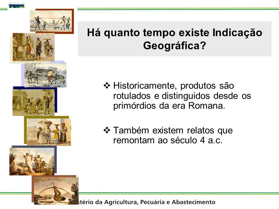 Quem foram os pioneiros a utilizar a Indicação Geográfica.