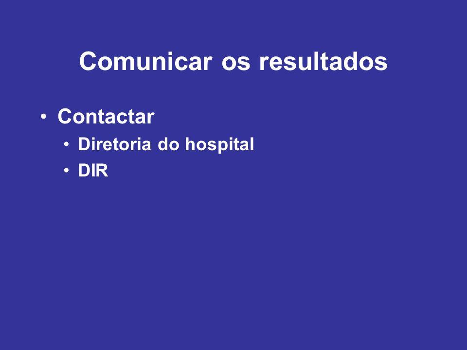 Contactar Diretoria do hospital DIR