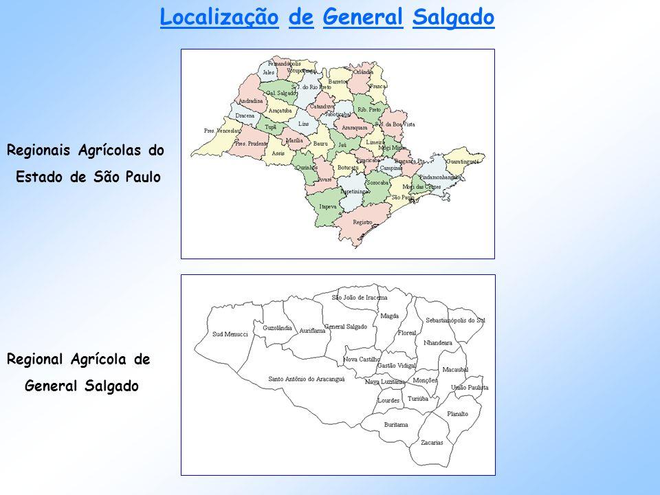 Localização de General Salgado Regionais Agrícolas do Estado de São Paulo Regional Agrícola de General Salgado